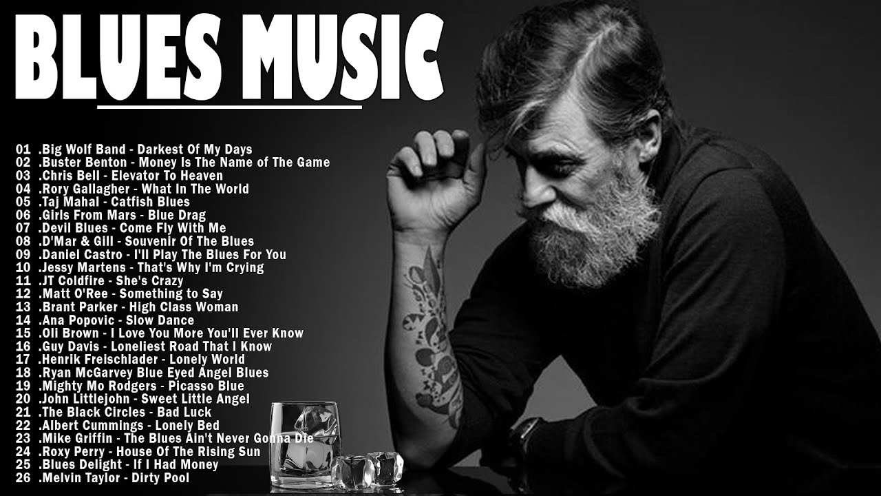 Download Top 50 Blues Music | Relaxing Cafe Music - Greatest Blues Songs Ever & Blues Rock Songs Playlist