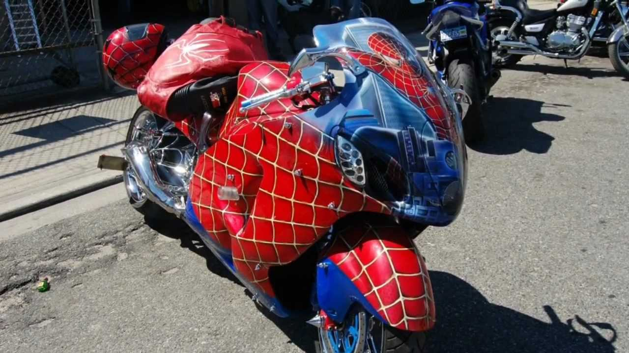 spiderman motorcycle bike bikes custom sport theme