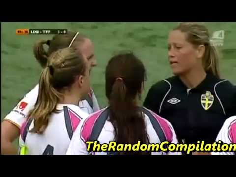 Women Carded In Soccer/Football Compilation Part 1