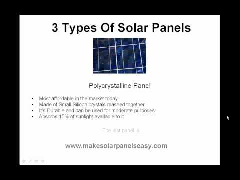 3 types of solar panels