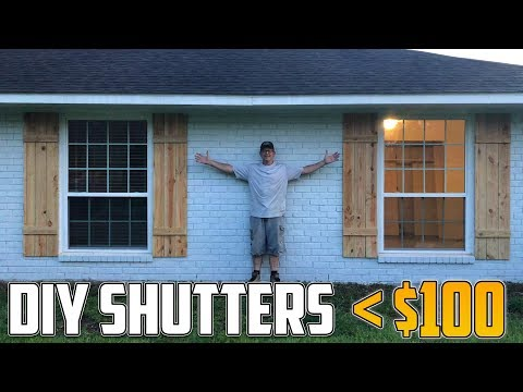 Building Our Own DIY Natural Wood Shutters!