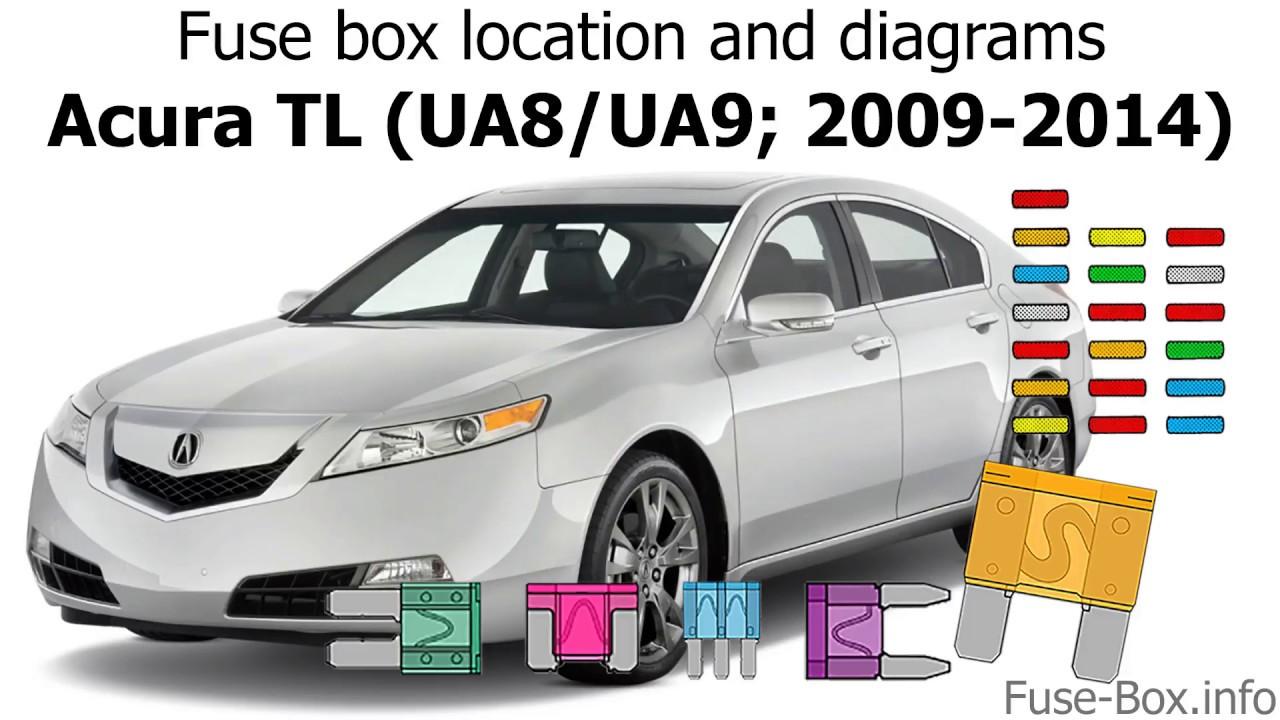 small resolution of fuse box location and diagrams acura tl ua8 ua9 2009 2014 youtube acura tl 2009 fuse box