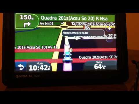TOUR PELA CIDADE DE PALMAS TOCANTINS PELO SIMULADOR GPS GARMIN NUVI 1490 T MAPAS TRACKSOURCE