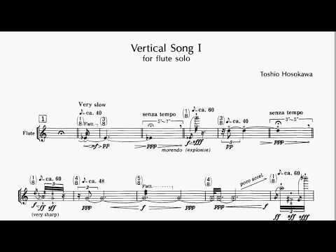 Toshio Hosokawa - Vertical songs I. for flute solo (or recorder)