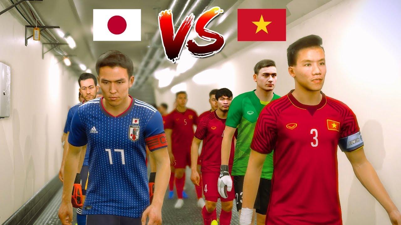 HOT 🔥 Viet Nam vs Japan 🔥 PES 2019 BÌNH LUẬN TIẾNG VIỆT ⭐ Asian Cup 2019 Highlights | Fujimarupes