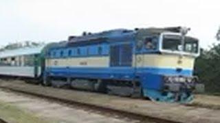 "Czech Republic: CD class 754 ""Goggle"" diesel locomotives at Nemotice & near Brno Slatina, S. Moravia"
