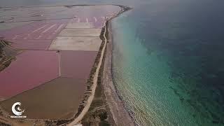 Perfect place to kitesurf kiteboarding lo Stagnone Marsala Sicily Drone 4K- PHOTOKITESURF