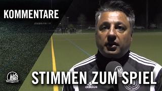 Die Stimmen zum Spiel (SC Bor. Lindenthal-Hohenlind - SF Troisdorf 05, U17, VF,  Pokal 2016/2017)
