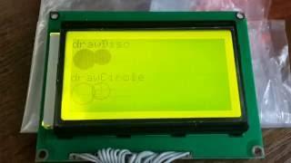 ЖК дисплей LCD12864 на ST7920 в связке с ARDUINO NANO. Работа через параллельный интерфейс.