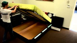 Modern Platform Bed With Lights And Storage | (866)397-0933 Lafurniturestore.com