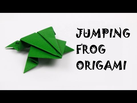 How to make a Jumping Frog with paper | Frog Origami | DIY | PaperMade Forg