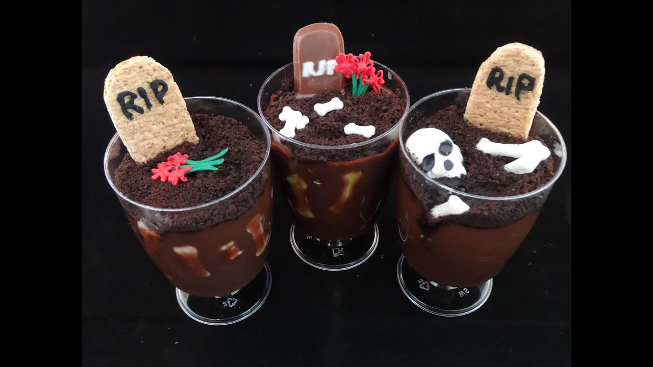 graverobber pudding cup treats for halloween youtube - Pudding Halloween Desserts