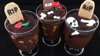 Graverobber Pudding Cup Treats For Halloween