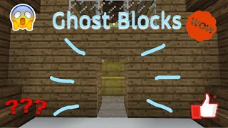 How to make ghost blocks in MCPE with commands