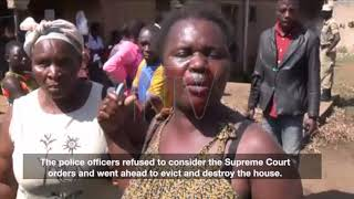Police net a bailiff who threw ailing former cop out