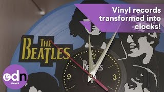 Turning back time: Vinyl records transformed into clocks!