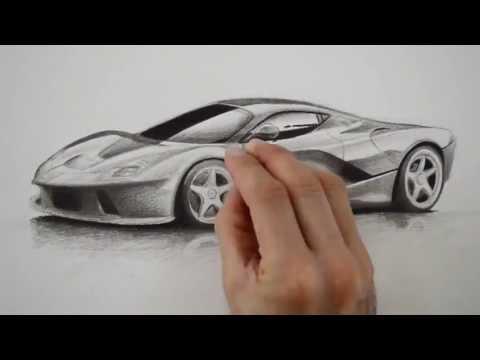 Ferrari Como Dibujar Un Ferrari Youtube