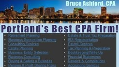 Tax Accounting & Bookkeeping Services in Portland with Bruce Ashford, CPA