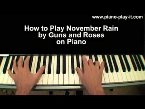 Piano tabs november rain