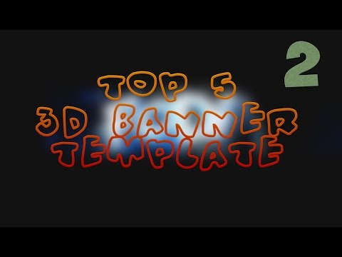 ●TOP 5 3D BANNER TEMPLATE●I C4D;Photoshop+Free Download