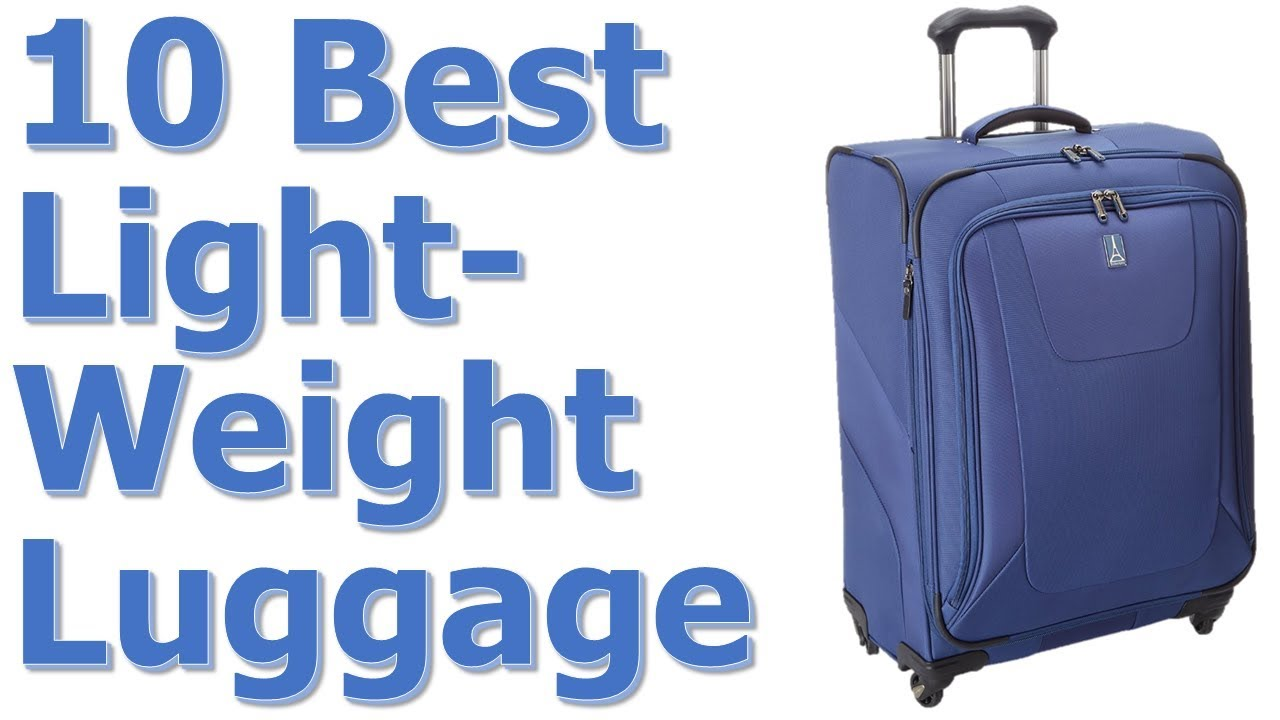 Best Lightweight Luggage for International Travel – Best ...