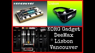 KORG GADGET - New Gadgets DeeMax, Lisbon & Vancouver - Overview - iPad Demo