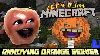Midget Apple Let's Play Minecraft!!! (Annoying Orange Server!)