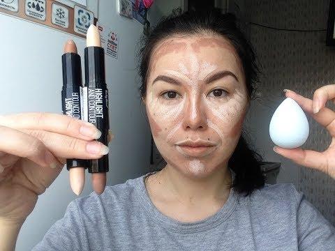 контуринг / 5 минут для макияжа / быстрый макияж / макияж корректорами / пятиминутка / покахонтас