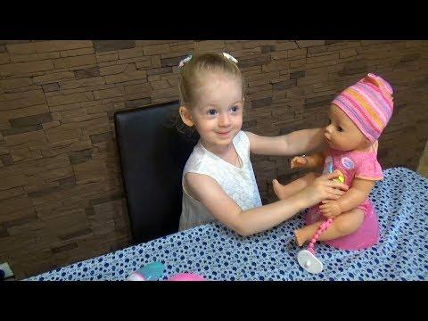 Распаковка и обзор. Интерактивная кукла Baby Born(Беби бон) Interactive doll Baby Born