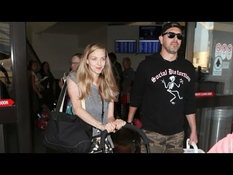 Amanda Seyfried Strolls Through LAX With Her Baby Daughter
