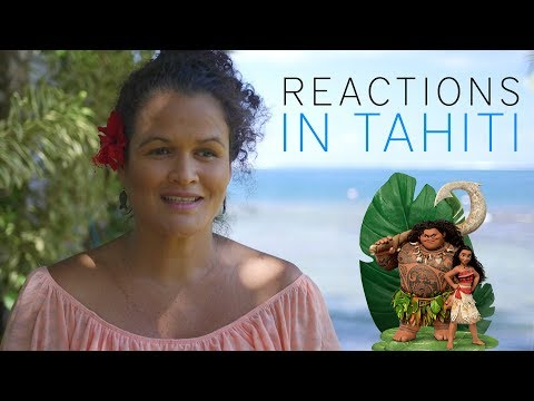 DISNEY MOANA - REACTIONS IN TAHITI