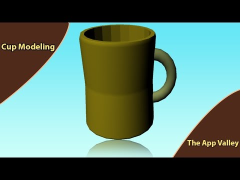 3D Game Modeling Assets and Texturing - Maya Tutorial - How to Cup Modeling in Maya