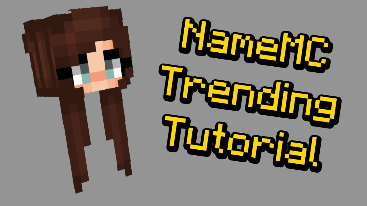 How To Make Trendy Hair On Your Minecraft Skin Youtube