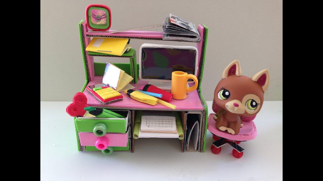 Lps Diy Computer Desk Funnycat Tv