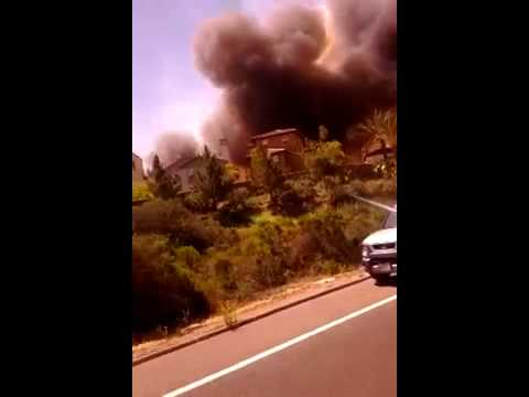 San Diego County Wildfire [Cell Phone Footage] 5/14/2014