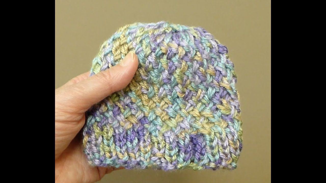 Cross Knit Loop Stitch : KNIT ALONG: AGD hat Cross Stitch tutorial/pattern - YouTube