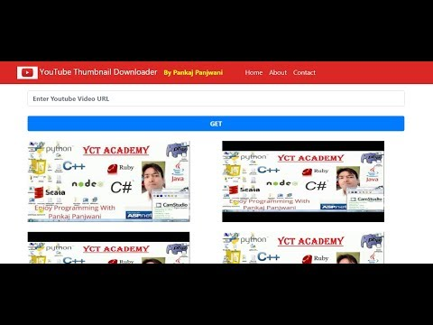 Youtube Thumbnail Downloader HTML CSS JS  |  By Pankaj Panjwani