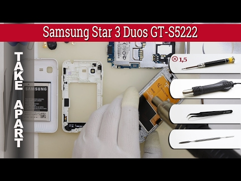 How to disassemble 📱 Samsung Star 3 Duos GT-S5222 Take apart Tutorial
