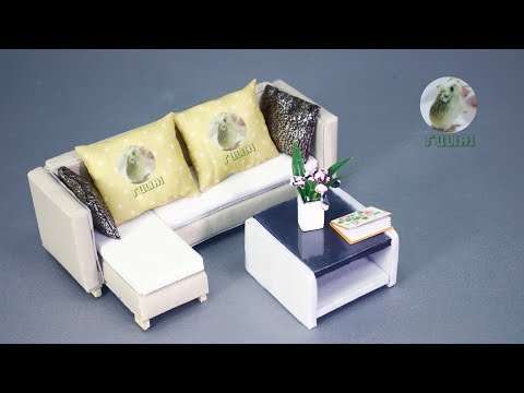 Couch Miniature Design & DIY – How to Make Sofa for Living Room