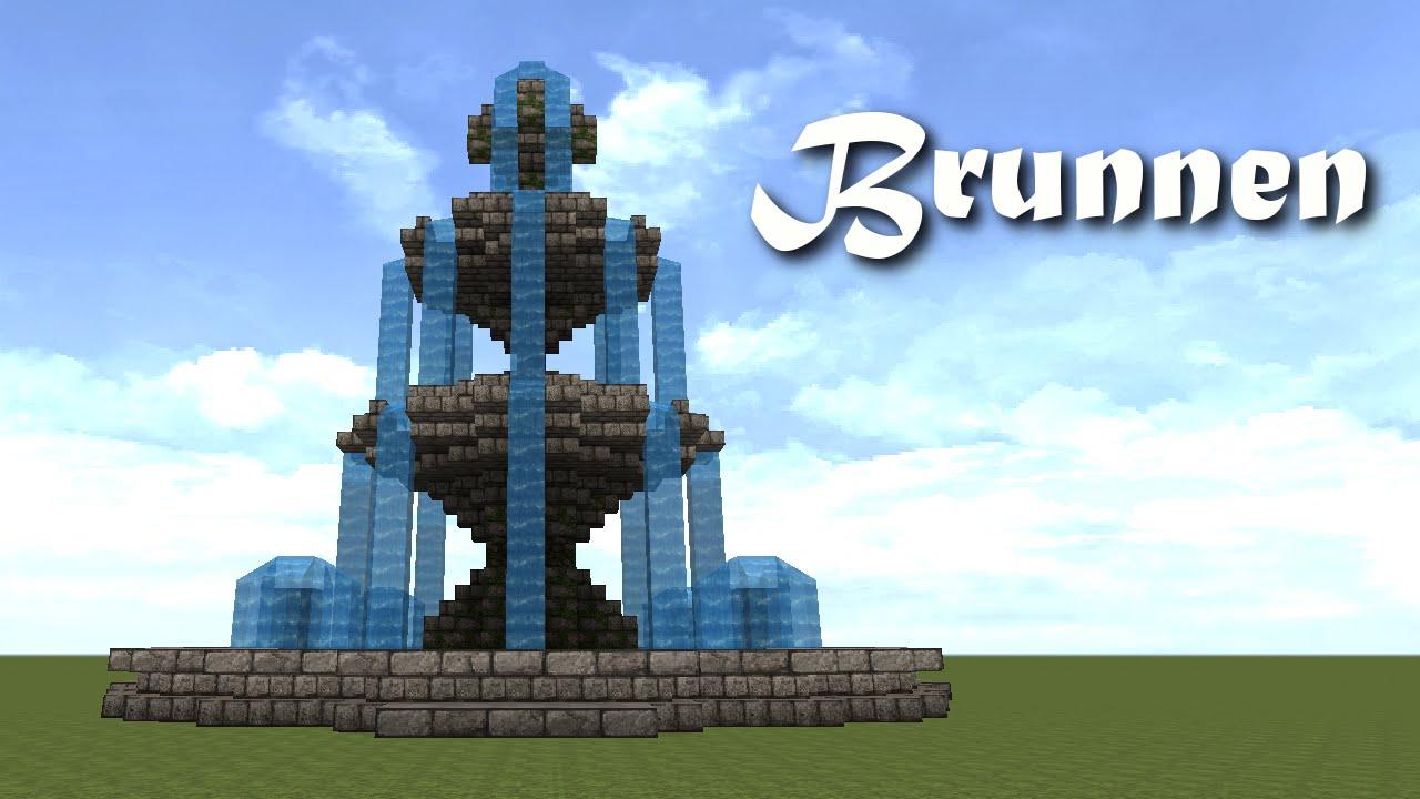 Minecraft Tutorial Brunnen Bauen Build A Fountain Youtube