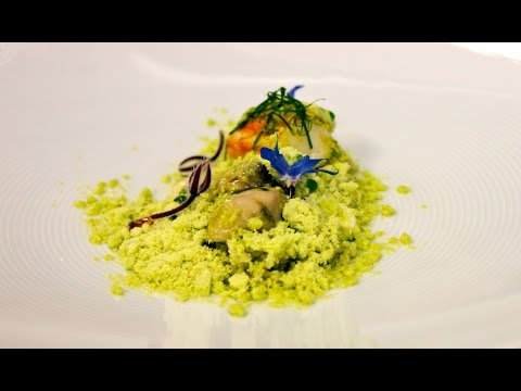 Michelin Starred Chef Diego Munoz's Rock Oysters, Alaskan King Crab, Cous Cous, Apple And Avocado