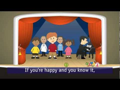 If you're happy and you know it...(with lyrics)