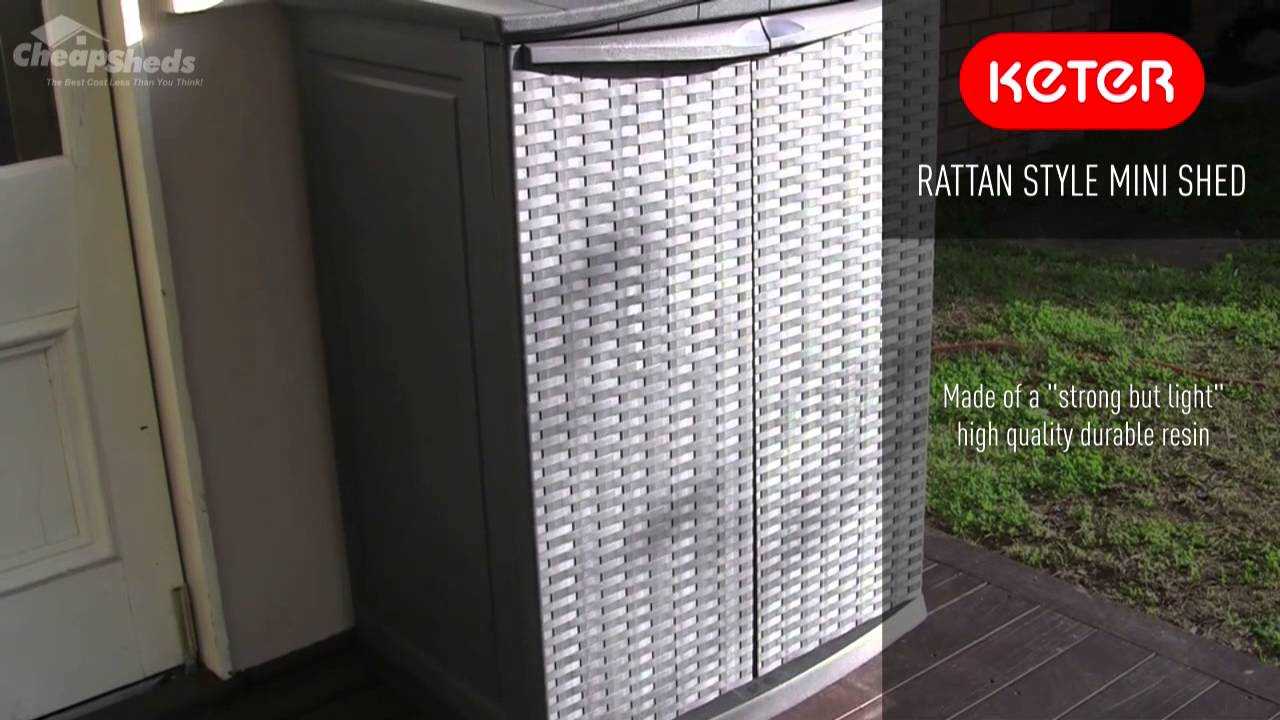 Keter Rattan Style Mini Shed - Resin Storage Unit - YouTube