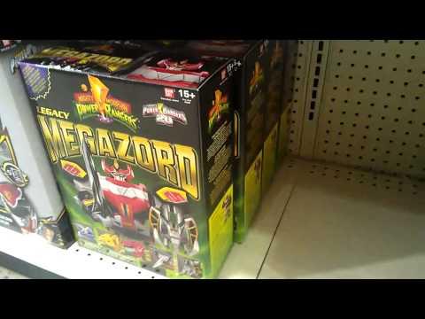 IN STOCK At Toys R Us Power Rangers Mighty Morphin Legacy Megazord & Mega Bloks Mini Figs