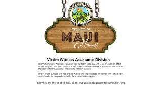 Victim Witness Assistance - Maui County