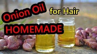 How to Make Onion Hair Oil for FAST Hair Growth & Hair Loss Homemade