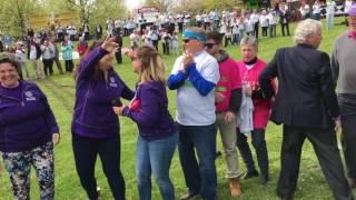 Lilac festival hug relay