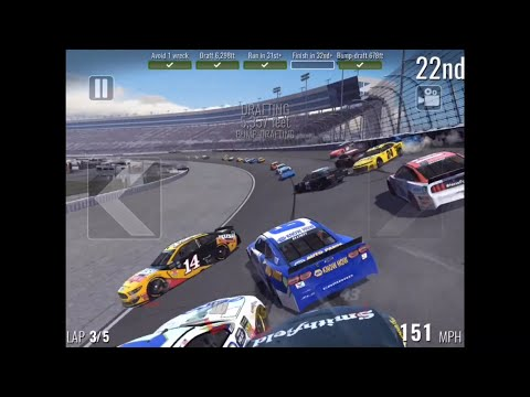 NASCAR HEAT MOBILE: Texas Motor Speedway Crash Compilation