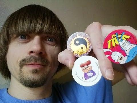 Vintage Pog Collection 90s  -(Weird Paul)  Milk Caps My Pogs Art Video Game Toys Retro