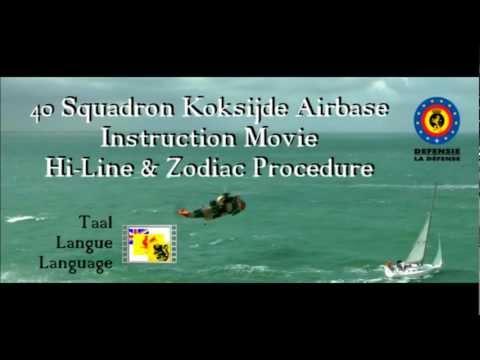 40 Squadron Koksijde Airbase Instruction Movie - Hi-Line & Zodiac Procedure